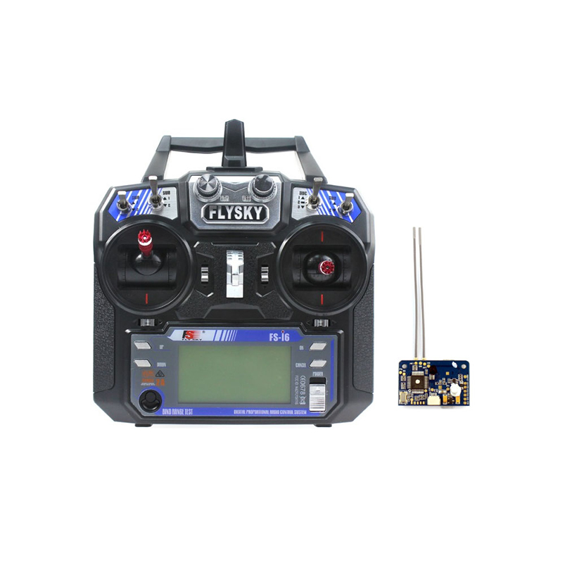 Flysky FS-i6 6CH 2.4G AFHDS 2A LCD Transmitter Radio System with FS-X6B Receiver for Mini FPV Racing Drone RC Helicopter jmt kingkong et100 rtf brushless fpv rc racing drone with flysky fs i6 6ch 2 4g transmitter radio system mini quadcopter