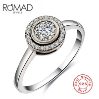 Luxury 925 Silver Ring For Women Vintage Jewelry Zircon Rings White Crystal Bijoux Bague For Wedding