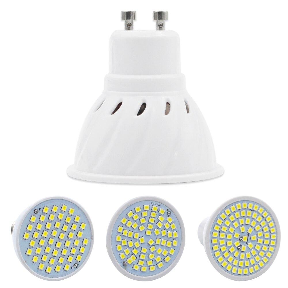 Lampada LED Lamp E27 E14 GU10 MR16 220V Bombillas LED Bulb Spotlight 48 60 80LED 2835 Lampara SpotLight