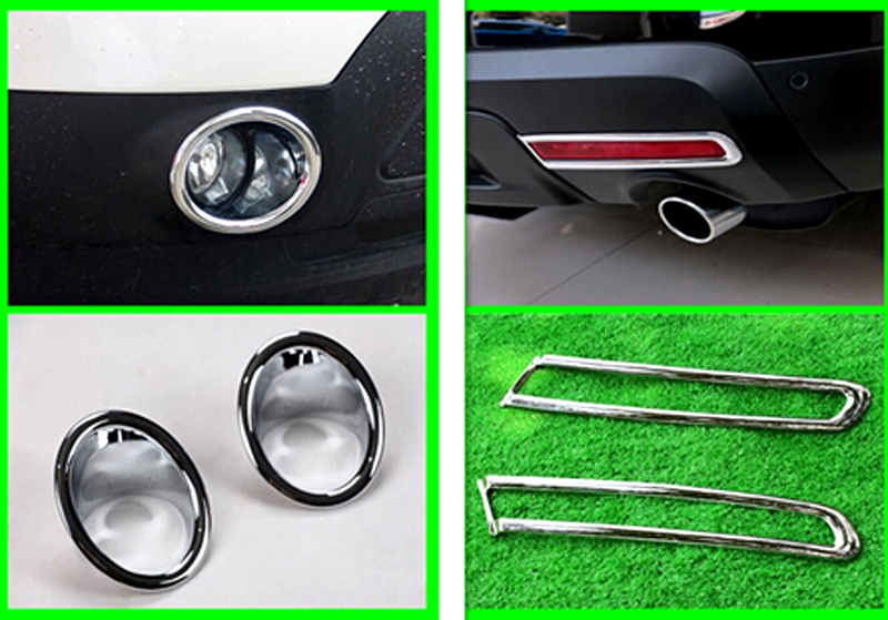 For Ford Explorer 2011 2012 2013 2014 Front & Rear fog light lamp cover 4pcs Car Exterior Accessories car stylingFor Ford Explorer 2011 2012 2013 2014 Front & Rear fog light lamp cover 4pcs Car Exterior Accessories car styling