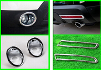 For Ford Explorer 2011 2012 2013 2014 Front Rear Fog Light Lamp Cover 4pcs Car Exterior
