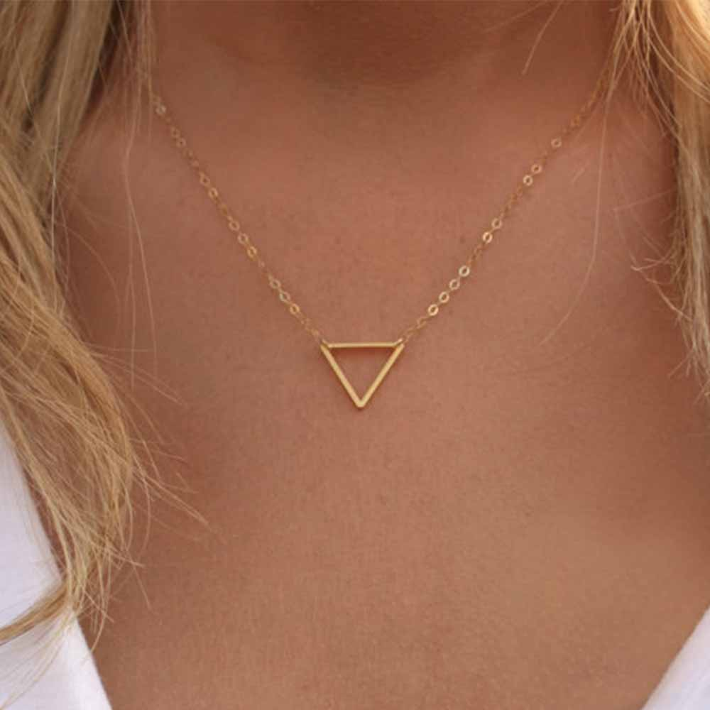 Charm necklace metal triangle Pendant Necklaces ladies gift 3