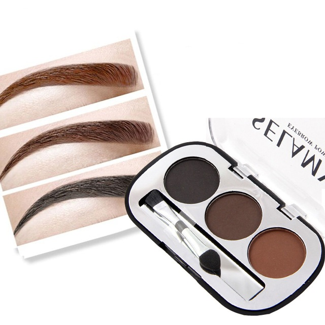 24PCS/LOT MISS ROSE Eyebrow Powder 3 Colors Eye brow Powder Palette Waterproof Long-lasting SmudgeProof with Eyebrow Brushes24PCS/LOT MISS ROSE Eyebrow Powder 3 Colors Eye brow Powder Palette Waterproof Long-lasting SmudgeProof with Eyebrow Brushes