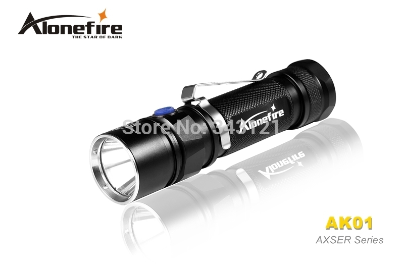Free shipping AloneFire Classic AK01 AXSER Series CREE XM-L2 LED 3 mode Lightweight mini led flashlight torch free shipping convoy s2 black cree xml2 u2 1a amc7135 3 2 group 3 5 mode edc led flashlight