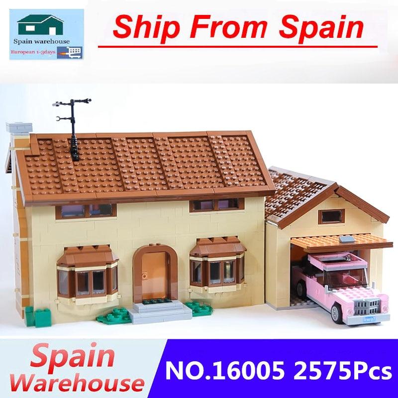 16005 16004 Kwik E Mart Supermarket Simpsons Family House Building Blocks City House Model 71006 71016