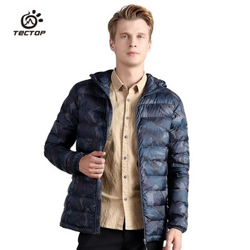 Winter Polyester fiber cotton Jackets Men outdoor sports Windproof Thermal Lightweight Hooded Camouflage Hiking down Coats
