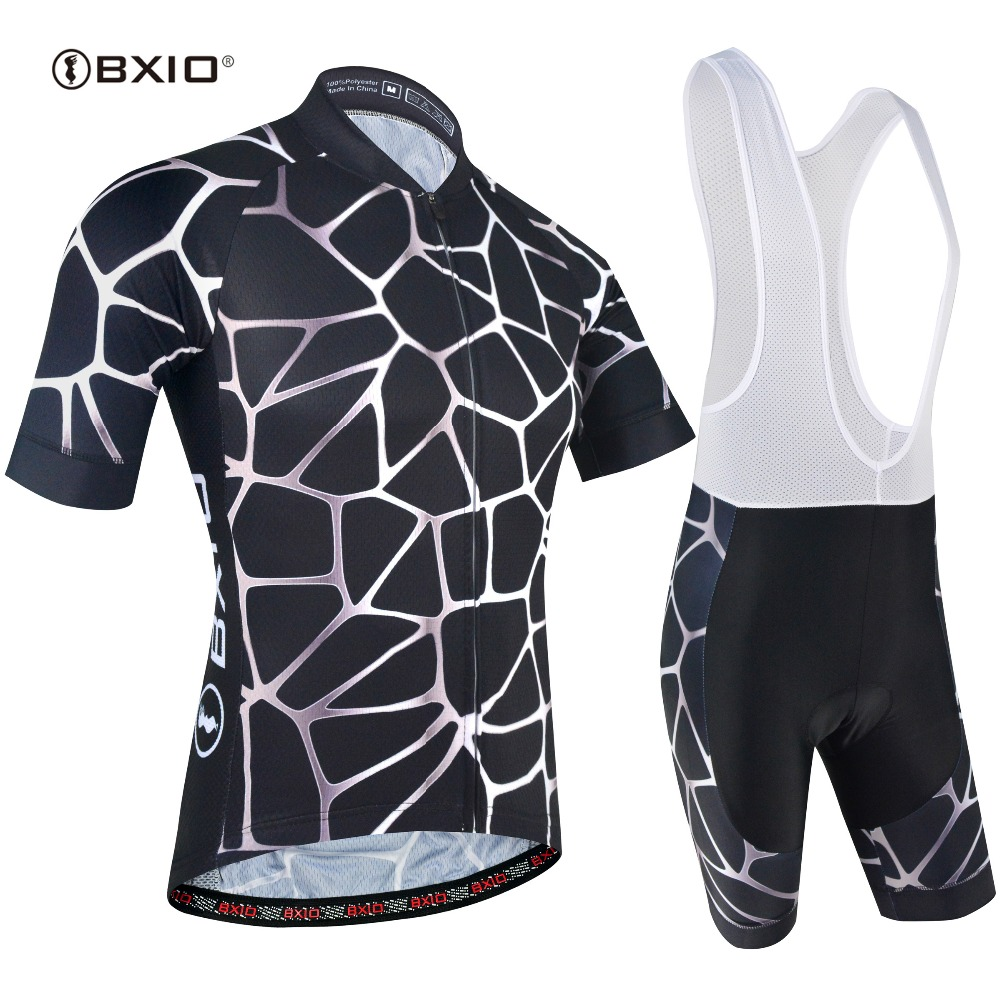 BXIO New Cool Cycling Jersey Set Short Sleeve Sportswear Polyester Summer Pro Bike Cycling Clothing Ropa Ciclismo BX-0209M173