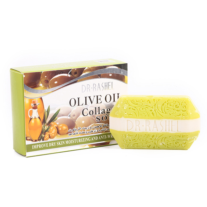 Olive Oil Collagen Handmade Soap Nourishing Deep Cleaning Face Cleanser Moisturizing Skin Care Anti-wrinkle Anti-aging Soap