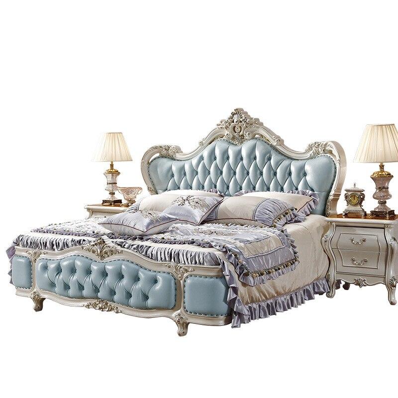 Dużym łóżkiem Typu King Rozmiar Faux Skóry Miękkie łóżko