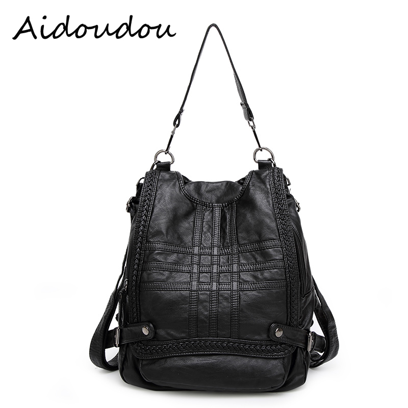 women shoulder bag 2017 Genuine Leather Women Backpack Woman Korean Ladies Strap Laptop Bag Daily Backpack
