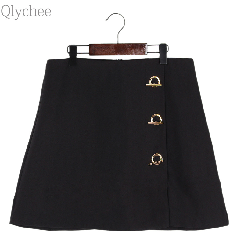 Popular Black Skirt Gold Buttons-Buy Cheap Black Skirt Gold ...