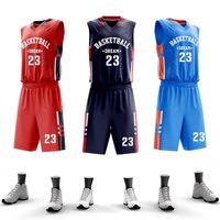 75ec4ca39b3 USA Men College Basketball Jerseys Custom Basketball Uniform Sets  Professional Throwback Jersey Basketball Quick Dry Sportswear
