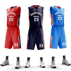 USA Men College Basketball Jerseys Custom Basketball Uniform Sets Professional Throwback jersey Basketball Quick Dry Sportswear
