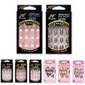 24 unids/pack Uñas Postizas Francés Nep nagels para el Diseño de Arte de Uñas Faux Ongles Sexy Cubierta Completa Clavos Falsos consejos de Moda Libre pegamento