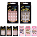 24pcs/Pack Fake Nails French Nep nagels for Art  Design Nail Tips Fashion Faux Ongles Sexy  Full Cover False Nails  Free Glue