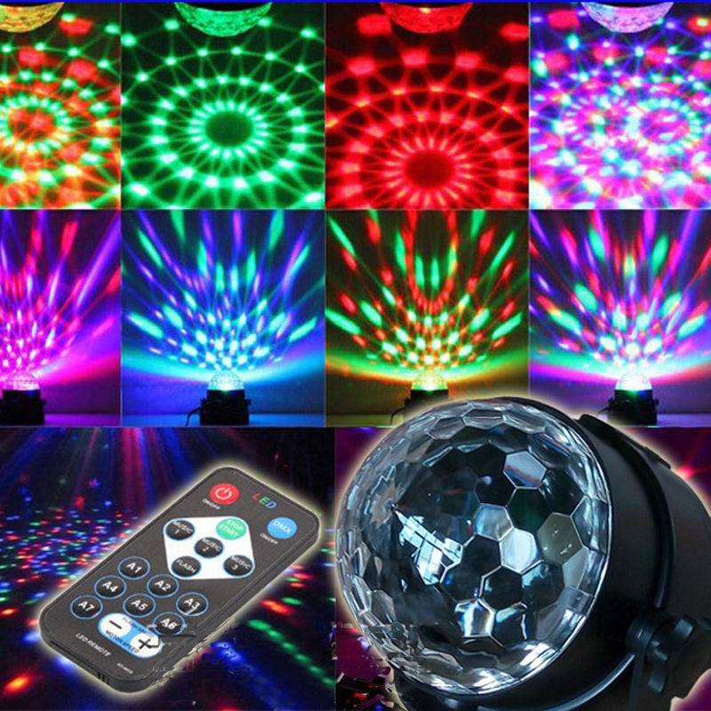 LED Lighting Rotating Lamp Disco Party Bar Effect Lights Stage + Remote Control Holiday Christmas DecorationLED Lighting Rotating Lamp Disco Party Bar Effect Lights Stage + Remote Control Holiday Christmas Decoration