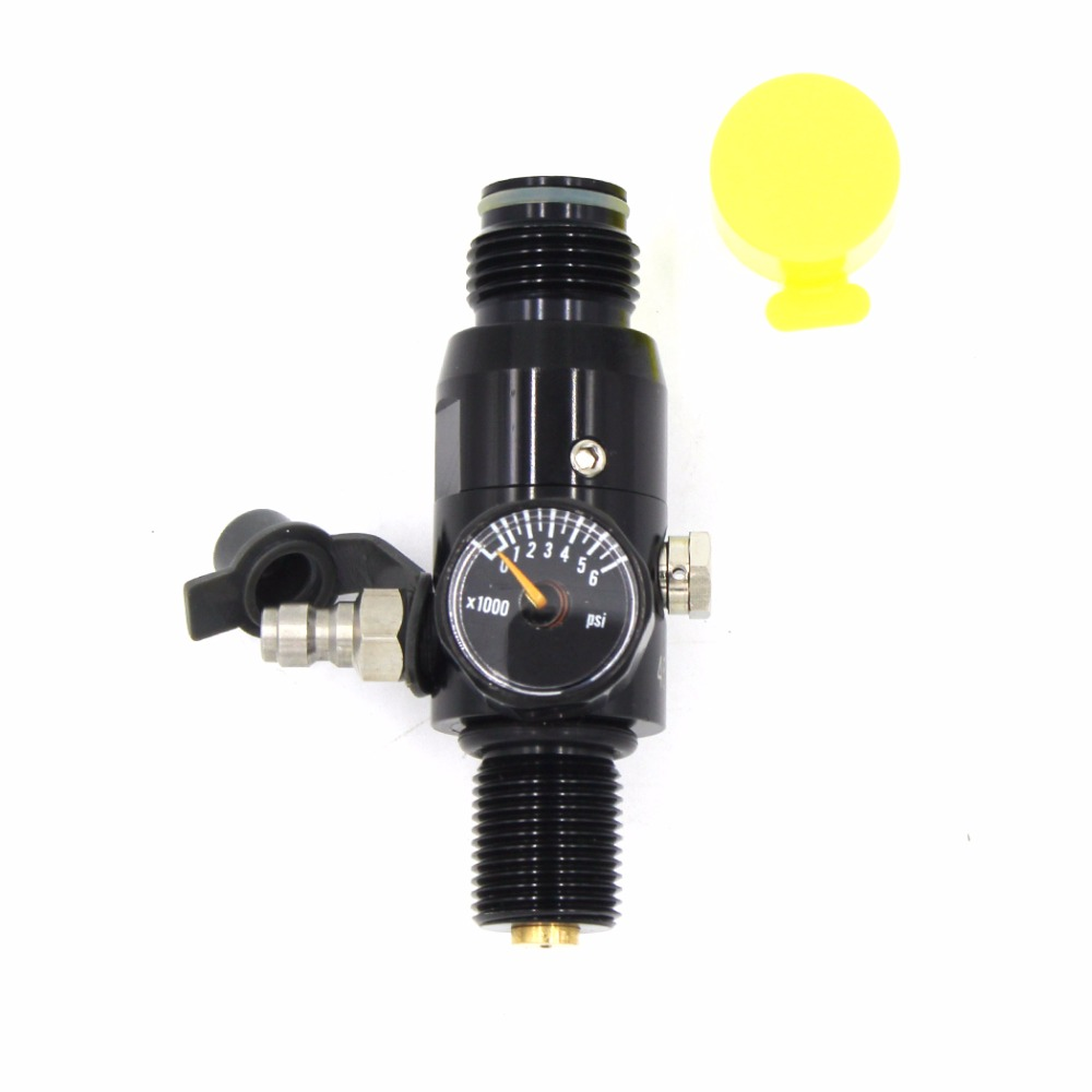 PCP Paintball Airsoft HPA Cylinder Regulator M18x1.5 CF Tank Valve 4500psi Inlet Pressure 850psi/1500psi/1800psi/2200psi Output