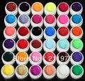 2018 36 colores diy diseño transparente extensión uv pure constructor gel nail art tips set