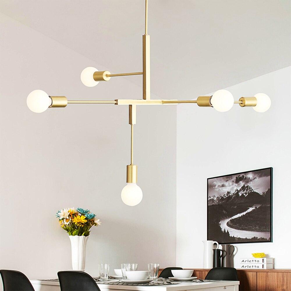 LED Pendant Chandelier For Living Room Bedroom Home Industrial Light Chandelier Modern Loft Ceiling Chandelier Lamp Lighting|Chandeliers| |  -
