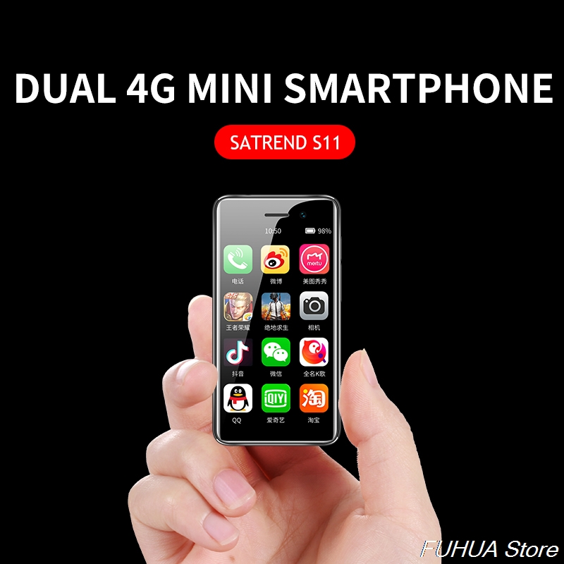 2019 New Small 4G Mini Smartphone S11 Android 7.1 CellPhone MTK6739 WiFi Dual SIM 3.2Inch Mobile Phone GPS Bluetooth