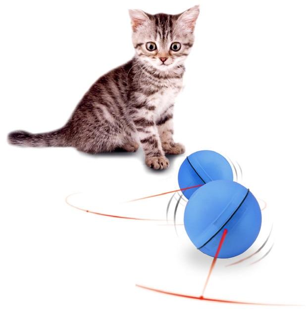 Cane Del gatto LED Laser Rosso Luce Elettronico di Rotolamento della Sfera Giocattolo Perfetto Mantenere Il Vostro Animale Domestico Occupato Gatto Interattivo Palla Laser Elettrico giocattolo divertente