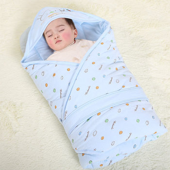 цены Baby Blanket Soft Cotton Baby Swaddle Thick Warm Envelopes For Newborns Baby Quilt Hooded Sleeping Bag For Infant 90x90cm