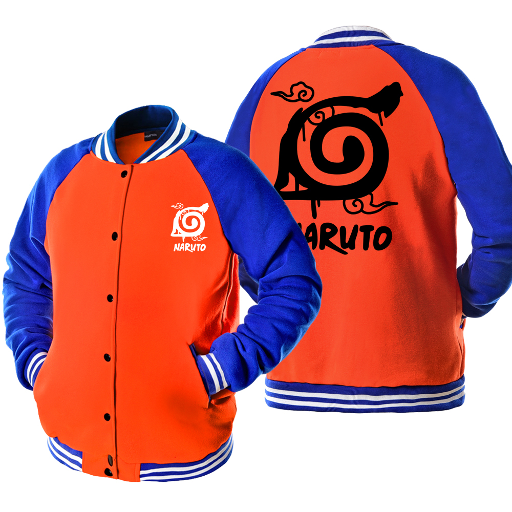 2019 Autumn Men Bomber Jacket Men Anime Uzumaki Naruto Jacket Male One Piece Luffy Men's Coat High Quality Outwear Sportswear