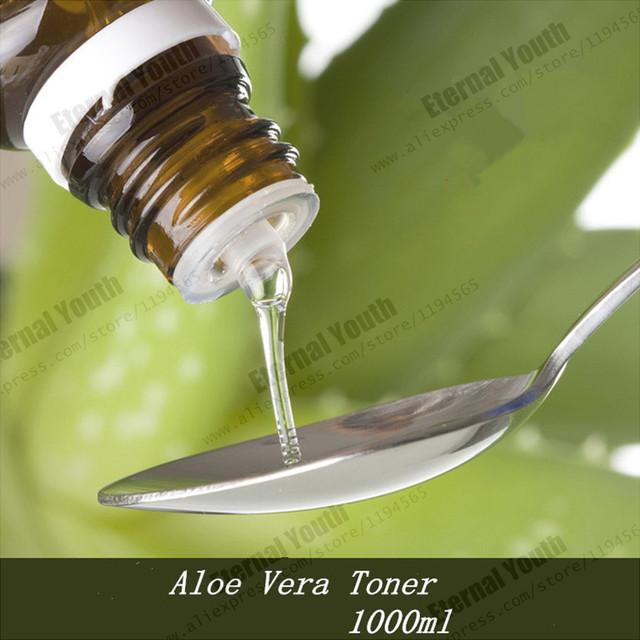 Aloe Vera Toner 1000 ml Reparación de la Barrera Humectado Anti-Peca Duradera Hidratación a Largo Salón de Belleza Spa