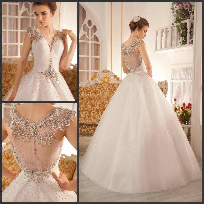 Free Shipping 2013 Luxury Ball Gown White Bandage Tube Top