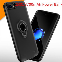 External 2500/3700 mAh Portable Backup Power Bank For iPhone 7 6 6S Plus Magnetic Battery Charger Case For iPhone 7 Plus 6 Plus