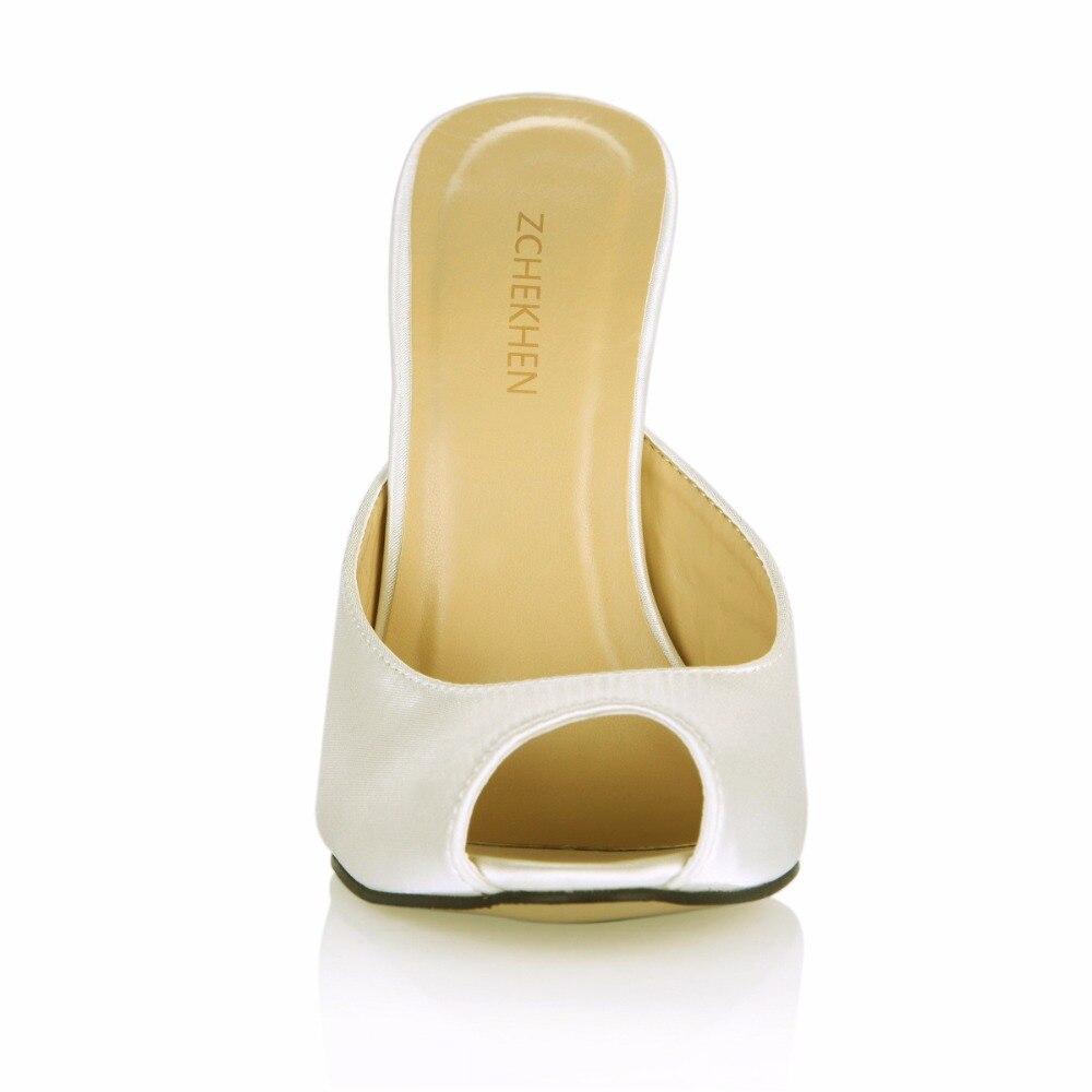 Sexy f3 3845 Mode Toe Slingback De Mules Pompes En Blanc Chaussures Hauts Peep Cuir Or Femme Talons Dames rqTxrH