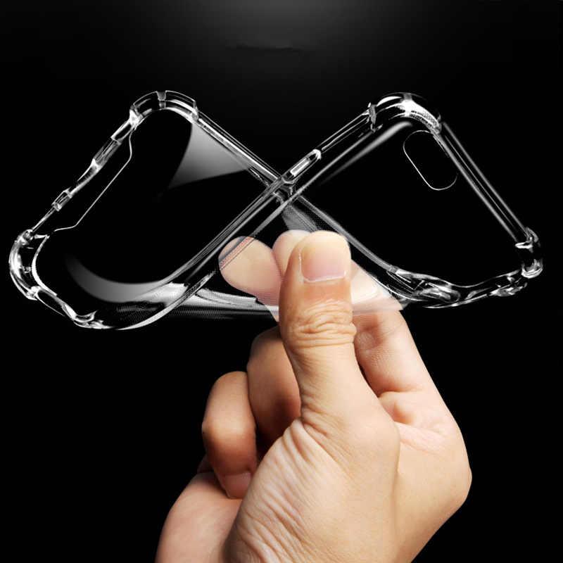 سوبر للصدمات واضح لينة حقيبة لهاتف أي فون 5 5 S SE 8 7 6 زائد 6 SPlus 7 زائد 8 زائد X S R ماكس السيليكون الفاخرة الغطاء الخلفي للهاتف الخلوي