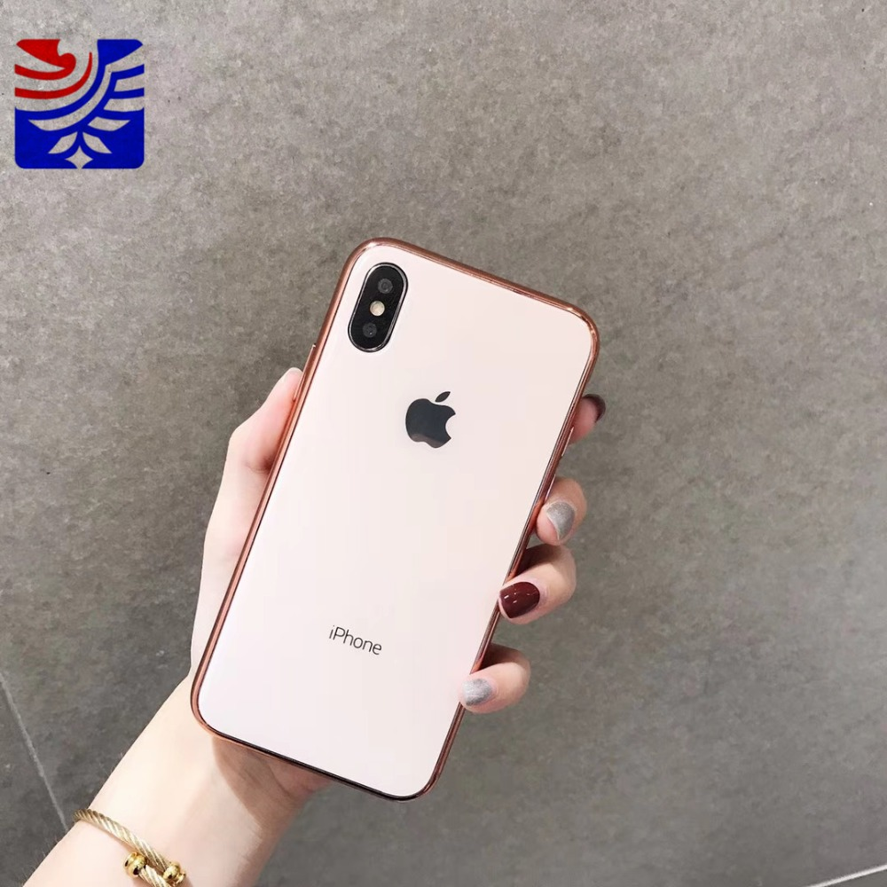 PEIPENG Luxury made of electroplated glass Anti-fall Phone Cases For iphone 6 6S 7 8 Plus X Xs Max Christmas gift Girl Simple and stylish10