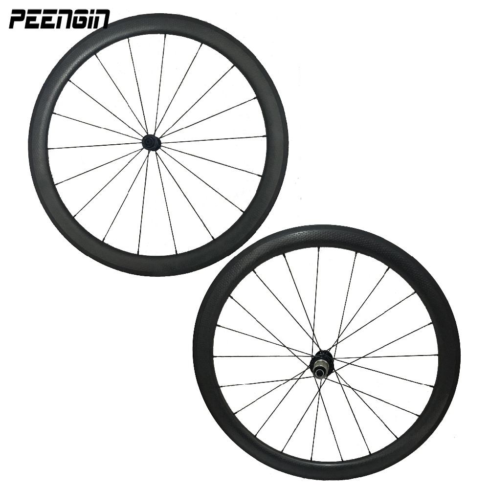 2:1 Lacing carbon dimpled clincher wheels 45mm road bike wheelset powerway R13 R36 R39 hubs black/Red/white colors pillar spokes powerway carbon ceramic hubs carbon track clincher wheelset 60mm and carbon bike wheel 60 88 50 38mm wheels