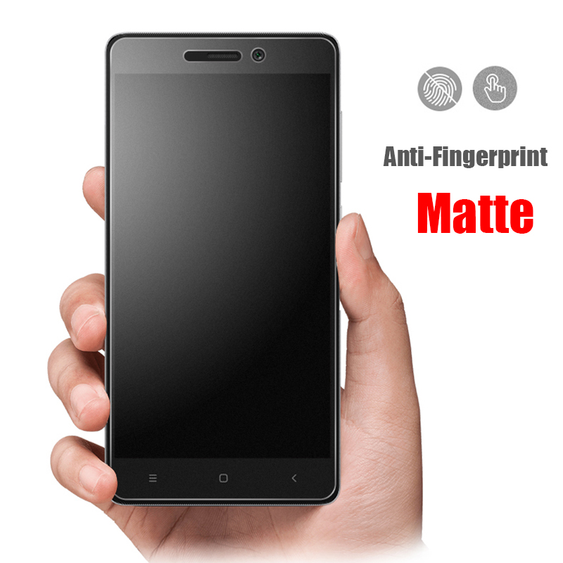 No Fingerprint Proof Frosted Matte Tempered Glass For Xiaomi Redmi 3 3S 3X 3Pro 4A Screen Protector Film For Redni Note 3 Pro