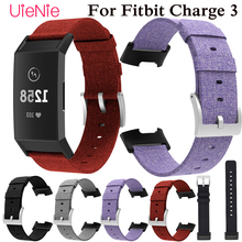 Contracted Canvas wristband For Fitbit Charge 3 frontier/classic bracelet smart watch accessories