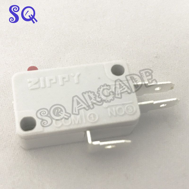 100pcs/lot White ZIPPY Microswitch Micro Switch For Arcade Joystick 3 Terminals For Acade Game Machine/Accessories/Parts