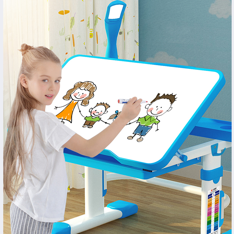 Chair Combination Desk Ergonomic Study-Table Children And Kid Ang