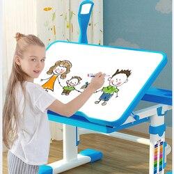 2019 다기능 어린이 학습 테이블 어린이 숙제 책상 인체 공학적 학생 조절 식 책상 및 의자 조합 데스크탑 ang