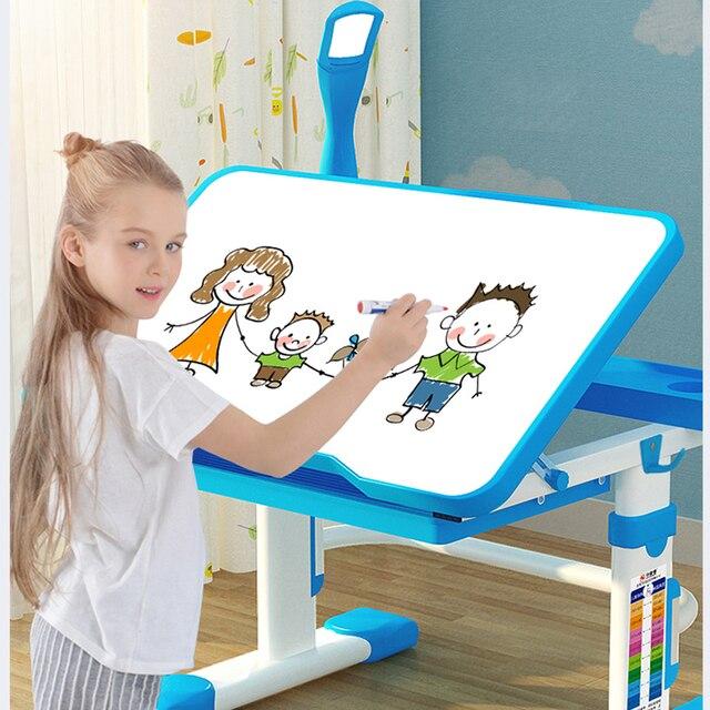 Delivery  normal Multifunctional Kid Study Children Homework Ergonomic Student Adjustable Desk And Chair Combination Desktop 1