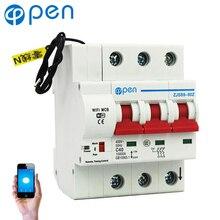 OPEN Remote Control Wifi Circuit Breaker 3P 40A-132A smart switch/ Intelligent automatic Recloser support alexa and google home new ezd100e 3p 40a ezd100e3040n plastic breaker