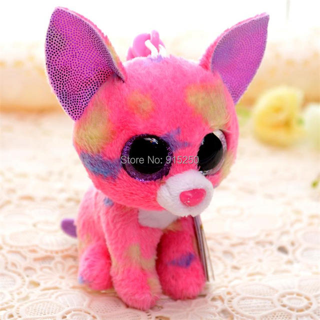 Offical 3   TY Plush Toy For Children Pink Chihuahua Beanie Babies Doll Toys  Key Chain Free Shipping  LN 69eb6c708155