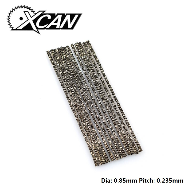 XCAN 144pcs Spiral Teeth  2# Scroll Saw Blades For Hand Fret Coping Saw