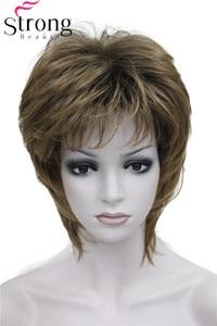 Image 1 - StrongBeauty/короткие прямые синтетические волосы коричневого цвета