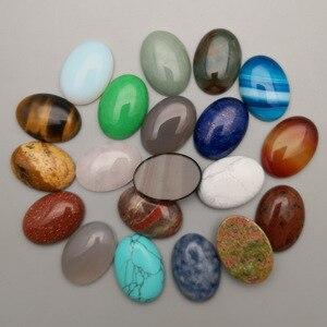 Image 3 - Cuenta de cabujón de piedra natural, mezcla de moda, 10 50 Uds., no hole10X14 13X18 25X18 15X30 20X30 30X40 MM, accesorios de anillo, envío gratis