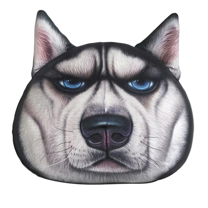 Funny 3D Cartoon Animal Cushion Cover Cute dog emoji Pillowcase Fluffy Fleece Pug Dog Decorative Throw Pillow Covers For Kids