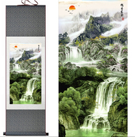 Mountain And River Painting Home Office Decoration Chinese Scroll Painting Landscape Art Painting Jiang Nan Painting