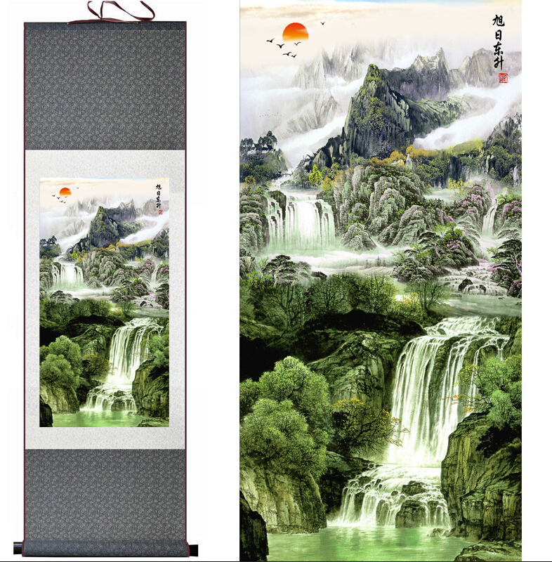 Mountain and River painting Home Office Decoration Chinese