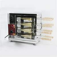 Electric 8 Baking Position Chimney Cake Oven Machine With 16 Roller Bakery Equipment Stainless Steel Commercial 2500W 220V/110V