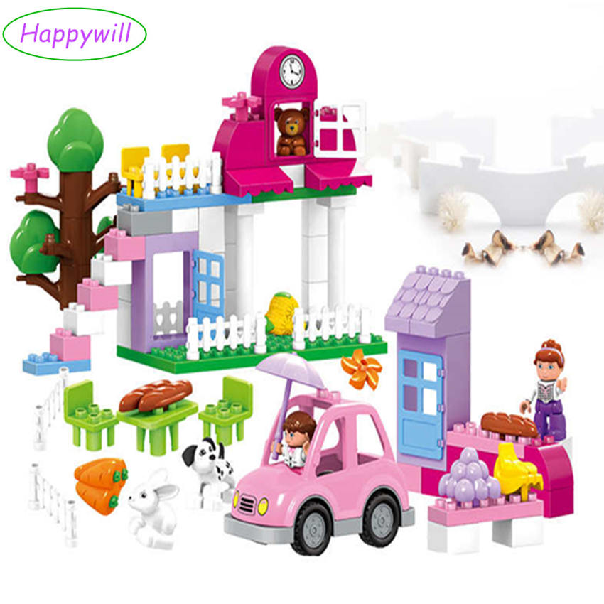 Happywill HM065 95pcs/lot Happy Farm Animals Building Blocks Sets Large particles Animal Model Bricks